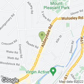 Map of Bannerdale Osteopathic Practice in Sheffield, south yorkshire