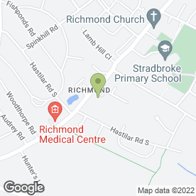 Map of Richmond Hotel in Sheffield, south yorkshire