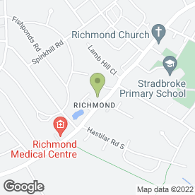 Map of Richmond Fisheries in Sheffield, south yorkshire