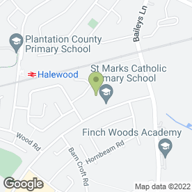 Map of St. Mark's Catholic Primary School in Halewood, Liverpool, merseyside