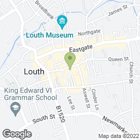 Map of Greggs in Louth, lincolnshire