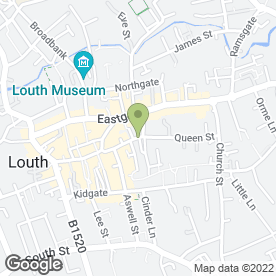 Map of The Jewellers Workshop in Louth, lincolnshire