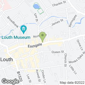 Map of Eastgate Jewellers in Louth, lincolnshire