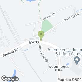 Map of J E Oxley (Landscaping) Ltd in Woodhouse Mill, Sheffield, south yorkshire
