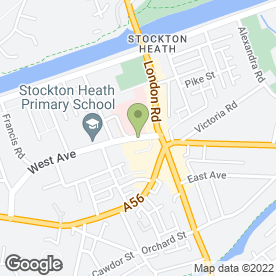 Map of Stockton Heath Carpet Centre in Stockton Heath, Warrington, cheshire
