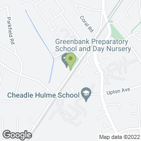 Map of Greenbank Day Nursery in Cheadle Hulme, Cheadle, cheshire