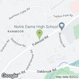 Map of The Beauty Clinic Ranmoor in Sheffield, south yorkshire