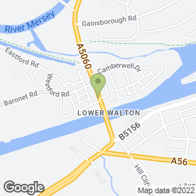 Map of B.B Motor Factors in Warrington, cheshire