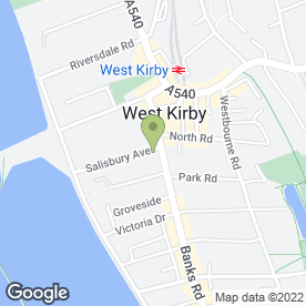 Map of What's Cutting Hair & Beauty in West Kirby, Wirral, merseyside