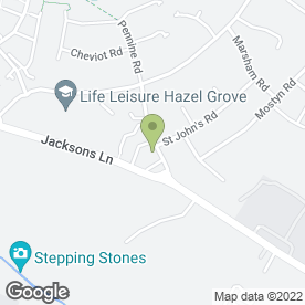 Map of Creative Design Interiors Ltd in Hazel Grove, Stockport, cheshire