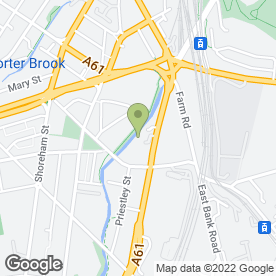 Map of Enterprise Rent-A-Car in Sheffield, south yorkshire
