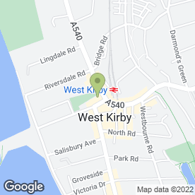 Map of Positive Touch in West Kirby, Wirral, merseyside