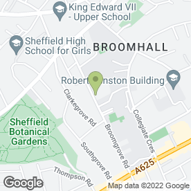 Map of Hadfield Cawkwell Davidson Ltd in Sheffield, south yorkshire