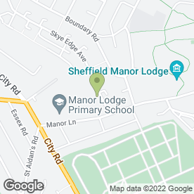 Map of Dovercourt Surgery in Sheffield, south yorkshire