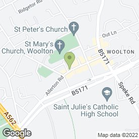 Map of The Village Retreat in Woolton, Liverpool, merseyside