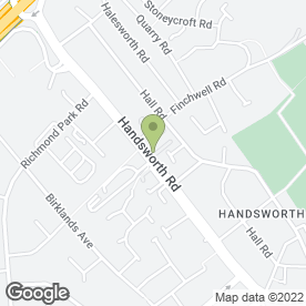 Map of Handsworth Christian School in Handsworth, Sheffield, south yorkshire