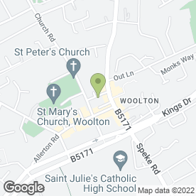 Map of Woolton Picture House in Woolton, Liverpool, merseyside