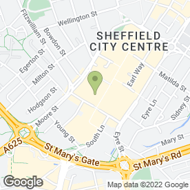 Map of Greggs in Sheffield, south yorkshire