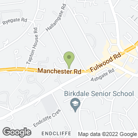 Map of The Osteopathic Practice in Sheffield, south yorkshire