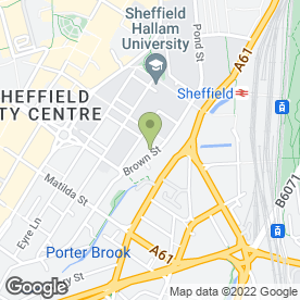 Map of Spearmint Rhino in Sheffield, south yorkshire