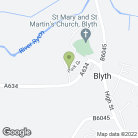 Map of The Charnwood Hotel in Blyth, Worksop, nottinghamshire