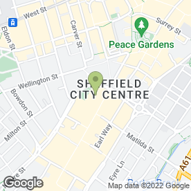 Map of Montgomery in Sheffield, south yorkshire