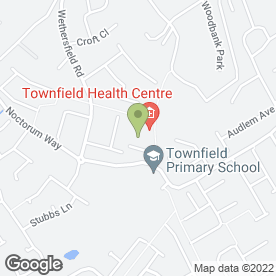 Map of Townfield Health Centre in Prenton, merseyside