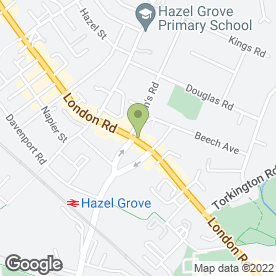 Map of Huffys Cafe Bar & Restaurant in Hazel Grove, Stockport, cheshire