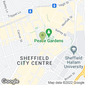 Map of Shop at Panasonic in Sheffield, south yorkshire