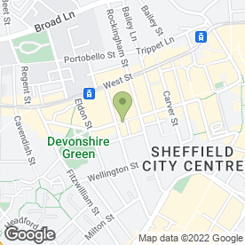 Map of Bliss in Sheffield, south yorkshire