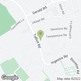 Map of Riverhill Hotel in Prenton, merseyside