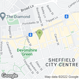Map of TERRACE TAILORS in Sheffield, south yorkshire
