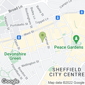 Map of Costa Coffee in Sheffield, south yorkshire