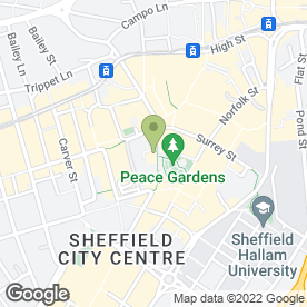 Map of Fox's Sandwich Specialists in Sheffield, south yorkshire
