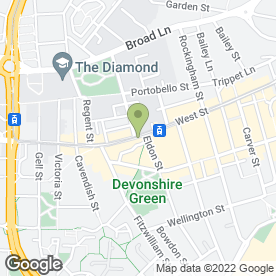 Map of West Park Clinic in Sheffield, south yorkshire