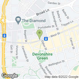 Map of Domino's Pizza in Sheffield, south yorkshire