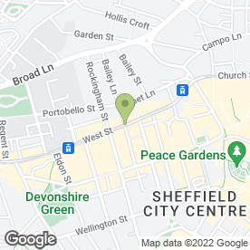 Map of Lahore Restaurant in SHEFFIELD, south yorkshire