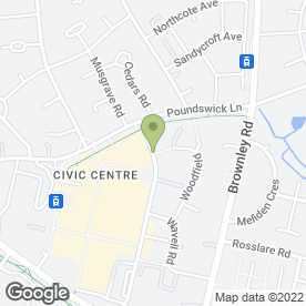Map of Citizens Advice Bureau in Wythenshawe, Manchester, lancashire