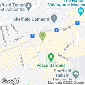Map of Strada in Sheffield, south yorkshire