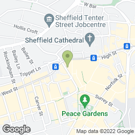 Map of Banner Jones Solicitors in Sheffield, south yorkshire