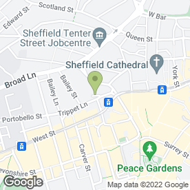 Map of Trippet Lane Sandwich Bar in SHEFFIELD, south yorkshire
