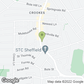 Map of Indian Chef in Sheffield, south yorkshire