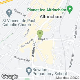 Map of Zipyard in Altrincham, cheshire