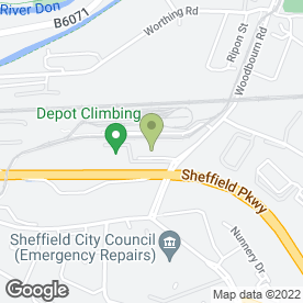 Map of Azaad's Kashmiri & Indian Restaurant in Sheffield, south yorkshire