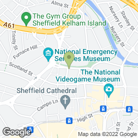 Map of Armadillo Self Storage Sheffield West Bar in Sheffield, south yorkshire