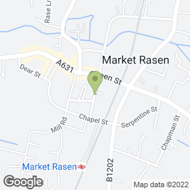 Map of Turners Computers in Market Rasen, lincolnshire