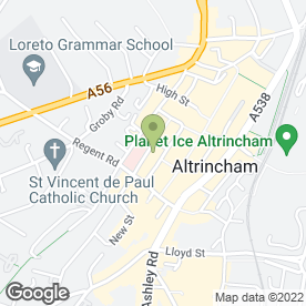 Map of ABM Security Systems Ltd in Altrincham, cheshire