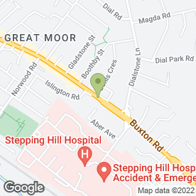 Map of GROOMING MARVELLOUS in Stockport, cheshire