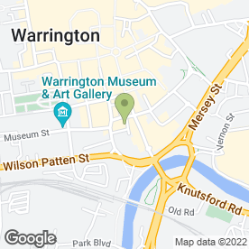 Map of The Showbar & Secrets in Warrington, cheshire