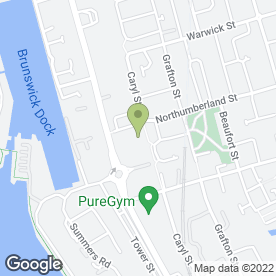 Map of Nissan Retail Group in Liverpool, merseyside
